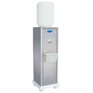 ตู้ทำน้ำเย็นสแตนเลส 1 ก๊อก ใช้ถังคว่ำ