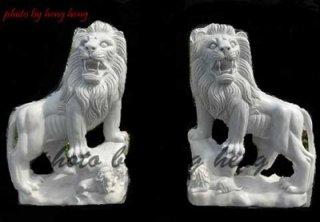 สิงโตหินอ่อนแกะสลัก สูง 100 ซม.