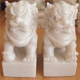 สิงโตปักกิ่ง ขนาดสูง 7 นิ้ว กว้าง 6 นิ้ว 1 คู่