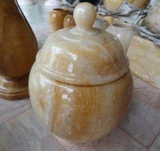 ผอบหินอ่อนน้ำผึ้ง สูง 20 ซม.