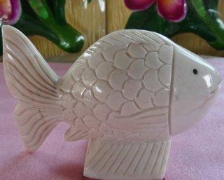ปลาตะเพียนหินอ่อน ขนาด กว้าง 15 ซม. สูง 10 ซม.