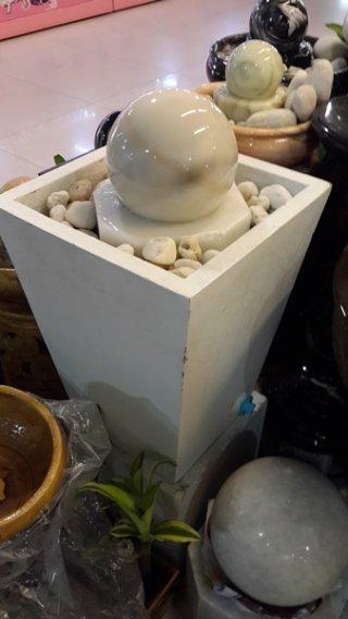 หินหมุนมงคล + อ่างน้ำสี่เหลี่ยม ชุดใหญ่