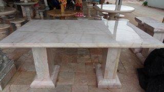 โต๊ะหินอ่อนทรงสี่่เหลี่ยม ขนาด 100x170x80 ซม.