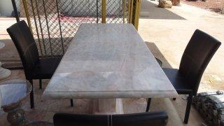 โต๊ะหินอ่อนทรงสี่่เหลี่ยม ขนาด 155x75x80 ซม.
