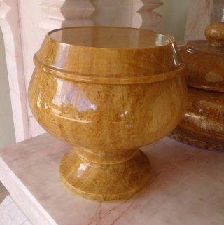 บาตรหินอ่อนหยกน้ำผึ้ง สูง 22 ซม.