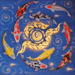 ภาพวาดปลาคราฟไหว้วน