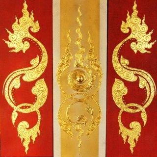 ภาพติดทองคำเปลวแท้ประดับห้องพระ