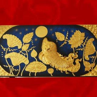 ภาพปลาหมายจันทร์ งานปิดทองคำแท้