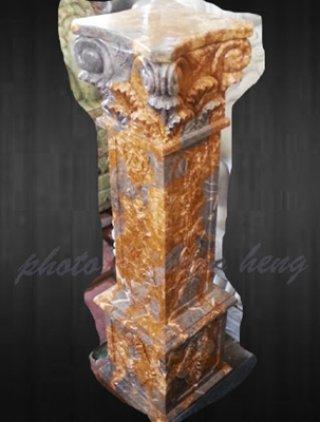 เสาโรมันหินอ่อน สี่เหลี่ยม สูง 80 ซม.