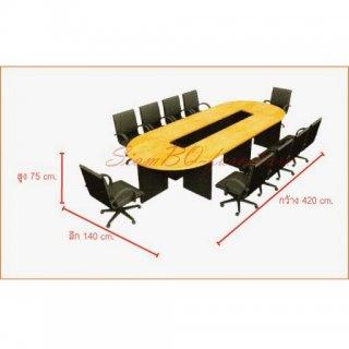 โต๊ะประชุมเมลามีนแบบต่อหัวท้าย