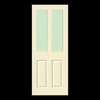 ประตูกระจก HDF บานกระจกนิรภัย