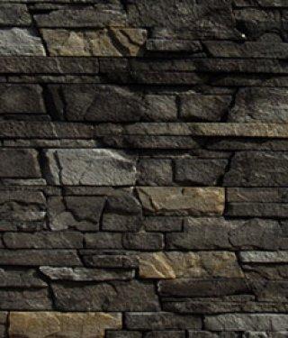 หินตกแต่ง PVA สีดำอ่อน