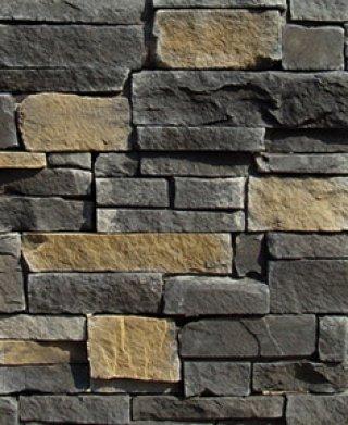 หินตกแต่ง PVN สีดำคละเหลือง
