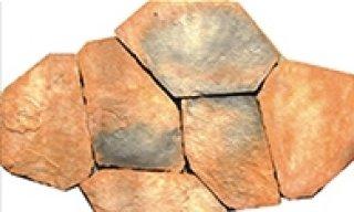 หินตกแต่ง PVK โทนน้ำตาล