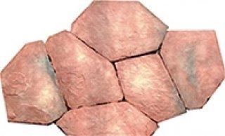 หินตกแต่ง PVK โทนแดงอ่อน