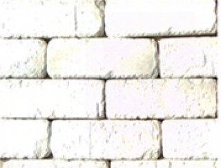 หินตกแต่ง PVB ลายอิฐโทนขาว