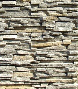 หินตกแต่ง PVV สีขาวแกมเทา