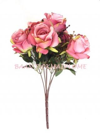 ดอกกุหลาบออทั่มชมพู