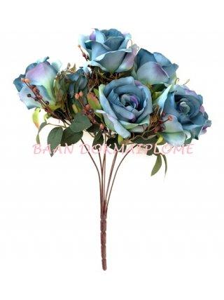 ดอกกุหลาบออทั่มน้ำเงิน
