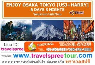 ทัวร์ญี่ปุ่น ENJOY OSAKA-TOKYO [USJ+HARRY] 6 วัน 3 คืน