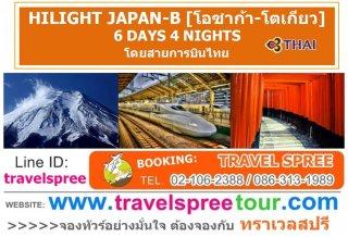 ทัวร์ญี่ปุ่น HILIGHT JAPAN-B (โอซาก้า-โตเกียว) 6 วัน 4 คืน