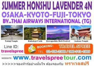 ทัวร์ญี่ปุ่น โอซาก้า โตเกียว SUMMER HONSHU (LAVENDER) 4 คืน