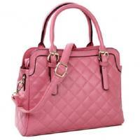 กระเป๋าถือแฟชั่นสีชมพู พร้อมสายสะพาย