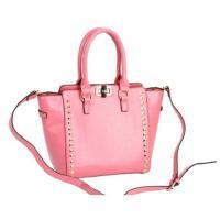 กระเป๋าถือแฟชั่นสีชมพู ทรงตะกร้า