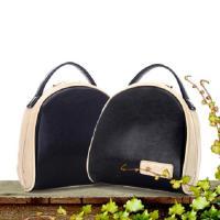 กระเป๋าถือแฟชั่นสีดำทรงโดม