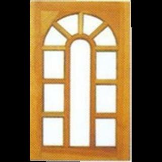 หน้าต่างไม้สัก ขนาด  60×110