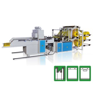 T-Shirt Bag Cutting and Sealing Machine CWA2+6+P-SV