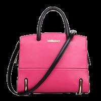 กระเป๋าแฟชั่น มีสายสะพายข้าง สีชมพู