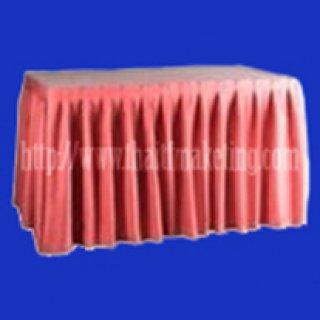 ผ้าคลุมโต๊ะจีบรอบตัวสีชมพู