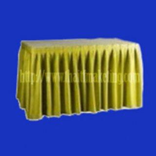 ผ้าคลุมโต๊ะจีบรอบตัวสีทอง