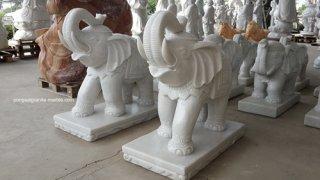 ช้างหินอ่อนแกะสลัก