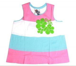เสื้อกล้ามเด็ก ไซส์ 4-5 ปี ลายคาดสี ชมพู ขาว ฟ้า