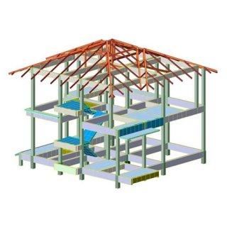 รับออกแบบโครงสร้างบ้านสองชั้น