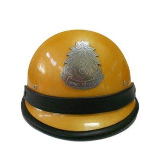 หมวกจราจร อปพร. เหลือง-ขาว