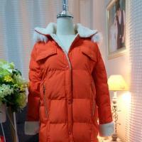 เสื้อกันหนาวยาวขนเป็ดสีส้ม