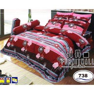 ชุดผ้าปูที่นอน SATIN รุ่น 738