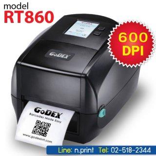 เครื่องพิมพ์บาร์โค้ด Godex RT860