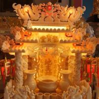 ศาลเจ้าที่หินอ่อน ขนาด 27 นิ้ว น้ำผึ้ง พระธาตุ