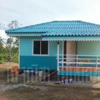 บ้านน็อคดาวน์ หลังคาทรงปั้นหยา ขนาด 4x6 เมตร สีฟ้า