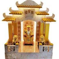 ศาลเจ้าที่ขนาด 16 นิ้ว หินสีชมพู พ่นทอง
