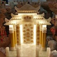 ศาลเจ้าที่หินอ่อน ขนาด 18 นิ้ว หินหยกน้ำผึ้งแก้ว