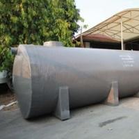 ถังบำบัดน้ำเสียไฟเบอร์กลาส ทรงแคปซูล 15,000 ลิตร