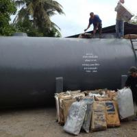ถังบำบัดน้ำเสียไฟเบอร์กลาส ทรงแคปซูล 80,000 ลิตร