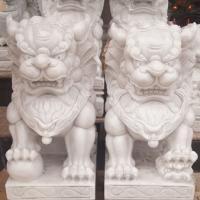 สิงโตปักกิ่งแกะสลักจากหินอ่อน