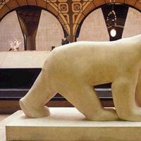 หมีขั้วโลก แกะสลักหินอ่อน