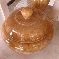 ผอบหินอ่อน หยกน้ำผึ้ง ขนาดสูง 25x35 ซม.